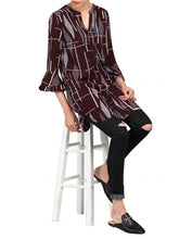 Load image into Gallery viewer, 3/4 Sleeve Printed Tunic