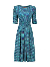 Load image into Gallery viewer, Jolie Moi Half Sleeve Dress, Blue Pattern