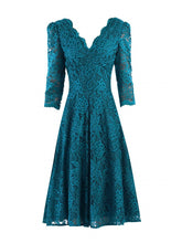 Load image into Gallery viewer, 3/4 Sleeve Lace Swing Dress