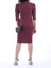 Load image into Gallery viewer, Jolie Moi Vintage Cross Front Dress, Pink Geo