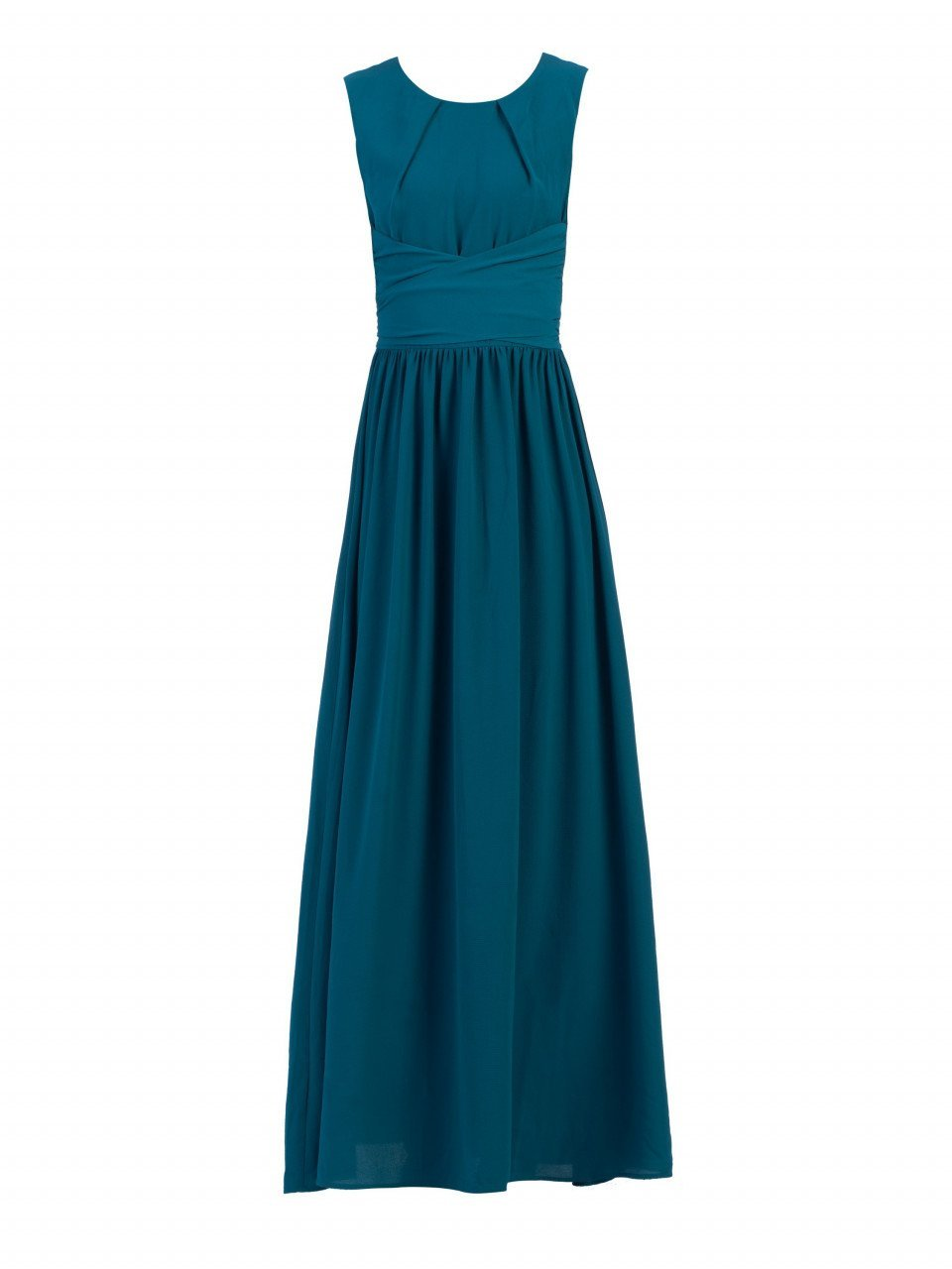 Wrap Belted Maxi Bridesmaid Dress