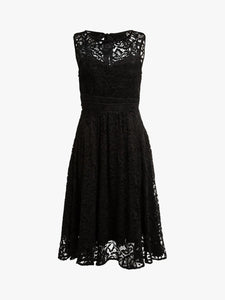 Jolie Moi Fit & Flare Lace Prom Dress, Black