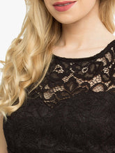 Load image into Gallery viewer, Jolie Moi Fit & Flare Lace Prom Bridesmaid Dress, Black-Jolie Moi