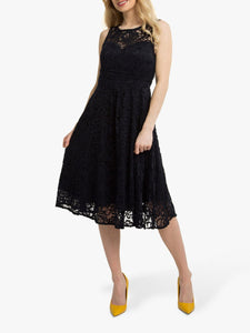Jolie Moi Fit & Flare Lace Prom Bridesmaid Dress, Navy-Jolie Moi