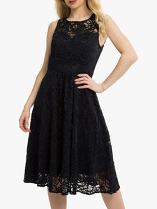 Jolie Moi Fit & Flare Lace Prom Bridesmaid Dress, Navy