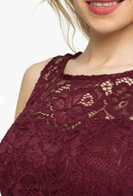 Load image into Gallery viewer, Jolie Moi Fit & Flare Lace Prom Dress, Burgundy