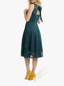 Jolie Moi Fit & Flare Lace Prom Bridesmaid Dress, Dark Teal-Jolie Moi