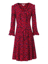 Load image into Gallery viewer, Jolie Moi Leopard Print Jersey Dress, Red