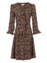 Load image into Gallery viewer, Jolie Moi Leopard Print Jersey Dress, Camel