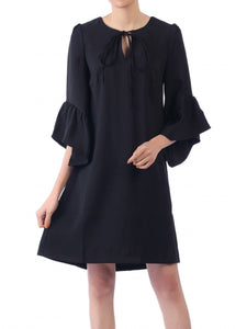 Jolie Moi Flare Sleeve Tunic Dress, Black
