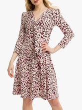 Load image into Gallery viewer, Jolie Moi Tie Front Animal Print Dress, Pink/Multi