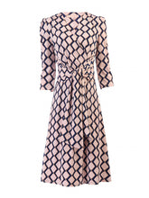 Load image into Gallery viewer, Jolie Moi Tie Front Wrap Dress, Pink Multi