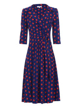 Load image into Gallery viewer, Jolie Moi Vintage Cross Front Jersey Tea Dress