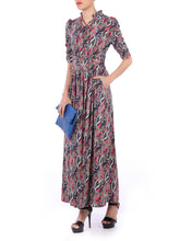 Load image into Gallery viewer, Tie Neck Maxi Dress