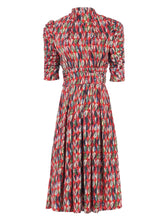 Load image into Gallery viewer, Jolie Moi Turtle Neck Midi Dress, Red Multi