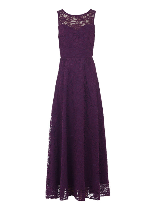 Jolie Moi Lace Fit & Flare Maxi Dress