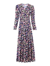 Load image into Gallery viewer, Long Sleeve Printed Maxi Dress, Abstract Multi