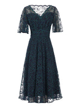 Load image into Gallery viewer, Cap Sleeve Lace Maxi Dress