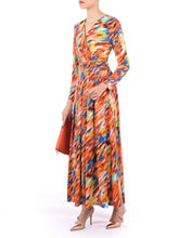 Load image into Gallery viewer, long Sleeve Printed Maxi Dress, Red Multi
