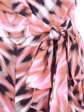 Load image into Gallery viewer, Cross Over Tie Waist Maxi Dress, Pink Multi