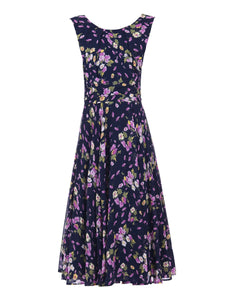 Floral Chiffon Midi Dress