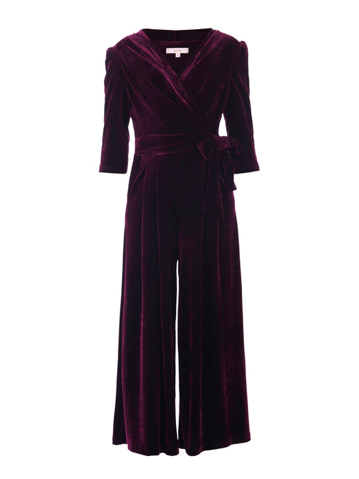 Velvet Cross Front Jumpsuit