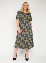 Load image into Gallery viewer, J by Jolie Moi Flare Sleeve Maxi Dress, Green Multi
