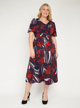 Load image into Gallery viewer, J by Jolie Moi Flare Sleeve Maxi Dress, Navy Multi