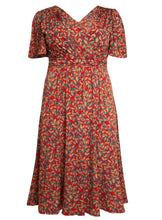 Load image into Gallery viewer, J by Jolie Moi Flare Sleeve Maxi Dress, Red Multi