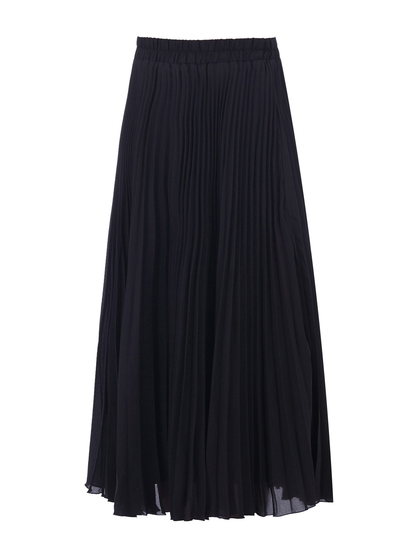 Pleated Full Circle Midi Skirt
