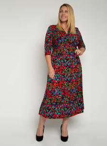 J by Jolie Moi Twist Front Maxi Dress, Geo Multi