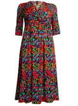 Load image into Gallery viewer, J by Jolie Moi Twist Front Maxi Dress, Geo Multi