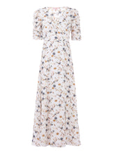 Load image into Gallery viewer, Puffy Sleeved Maxi Dress, Cream Floral