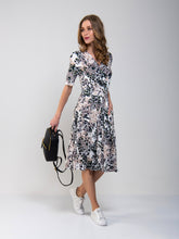 Load image into Gallery viewer, Wrap Front Viscose Dress ,Blush Floral