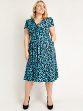 Load image into Gallery viewer, Leopard Print Fit and Flare Dress