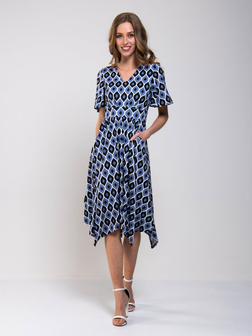 Hankercheif Hem Jersey Dress