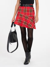 Load image into Gallery viewer, Checked Flounce Mini Skirt, Red Check