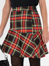 Load image into Gallery viewer, Checked Flounce Mini Skirt, Green Check