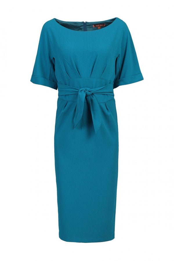 Short Sleeve Kimono Dress, Teal