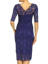 Load image into Gallery viewer, V Neck 3/4 Sleeve Lace Dress