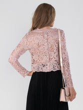 Load image into Gallery viewer, Cropped Flare Sleeve Lace Top