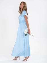 Load image into Gallery viewer, Cap Sleeve Jersey Maxi Dress , Light Blue