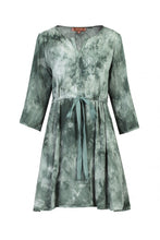 Load image into Gallery viewer, Jolie Moi Tie Dye Drawstring Tunic Dress, Khaki