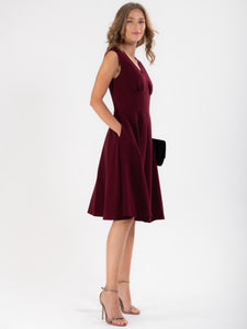Sweetheart Neck Flared Dress