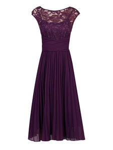 Lace Bodice Pleated Bridesmaid Dress-Jolie Moi