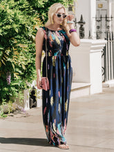Load image into Gallery viewer, Feather Belted Maxi Dress