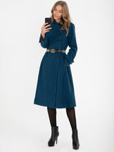 Load image into Gallery viewer, Asymmetric Button Coat, Dark TEAL
