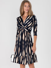 Load image into Gallery viewer, Retro Geometric Flare Hem Dress