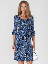 Load image into Gallery viewer, Print Balloon Sleeve Jersey Dress