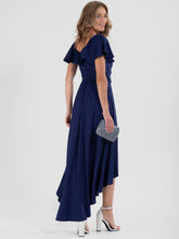Load image into Gallery viewer, Ruffle Dip Hem Maxi Dress, Navy